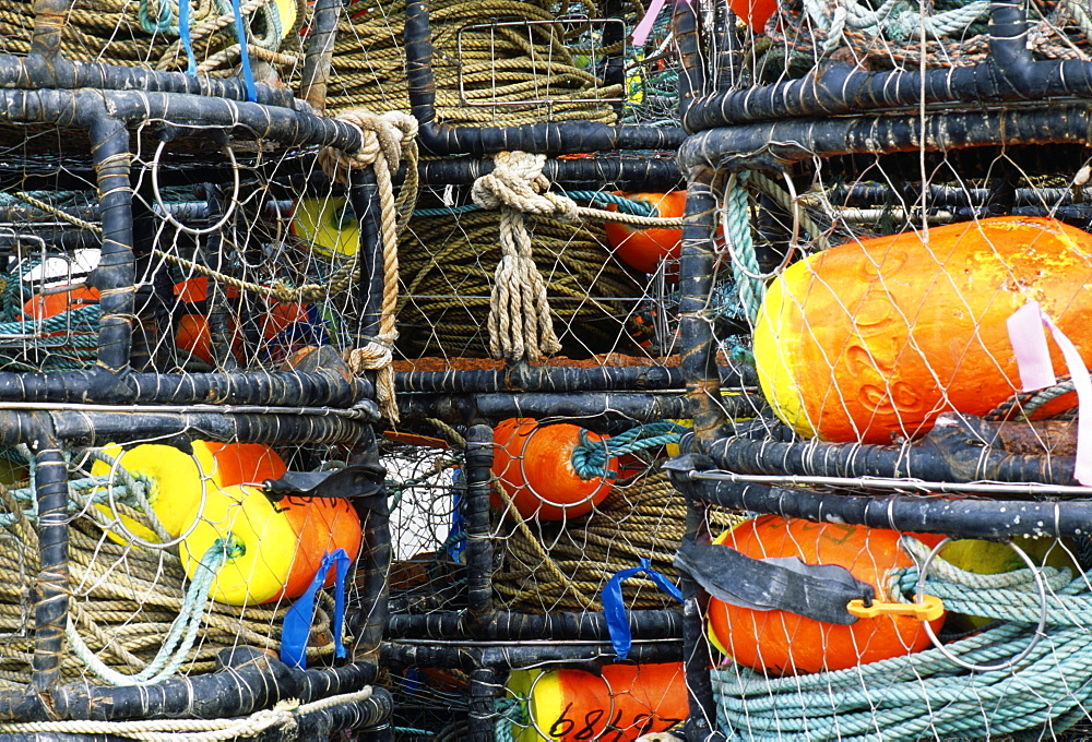 Close-up of crab traps, Bodega Bay, CA, United States of America