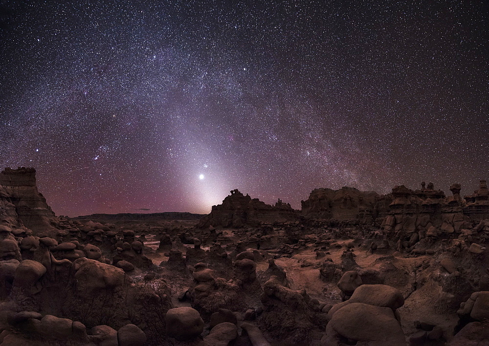Milky Way over Goblin Valley