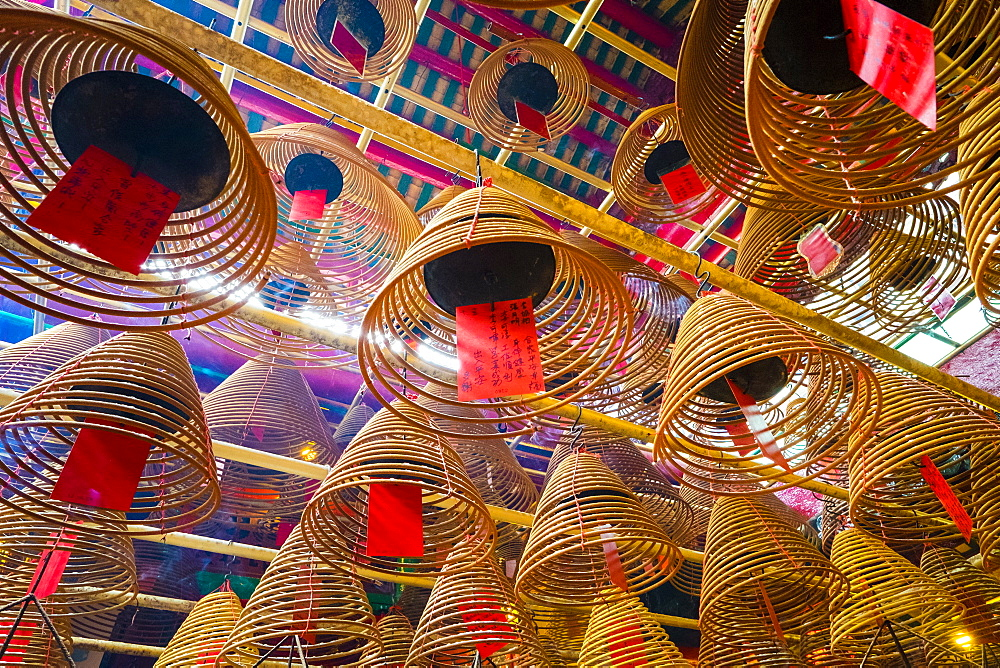 Incense coils at Man Mo Temple, Hong Kong