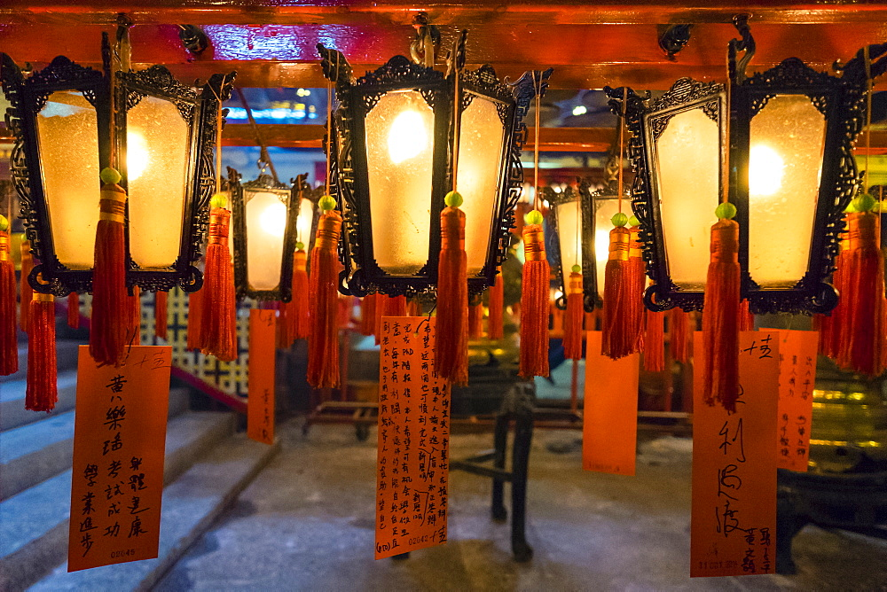 Prayer lanterns at Man Mo Temple, Hong Kong