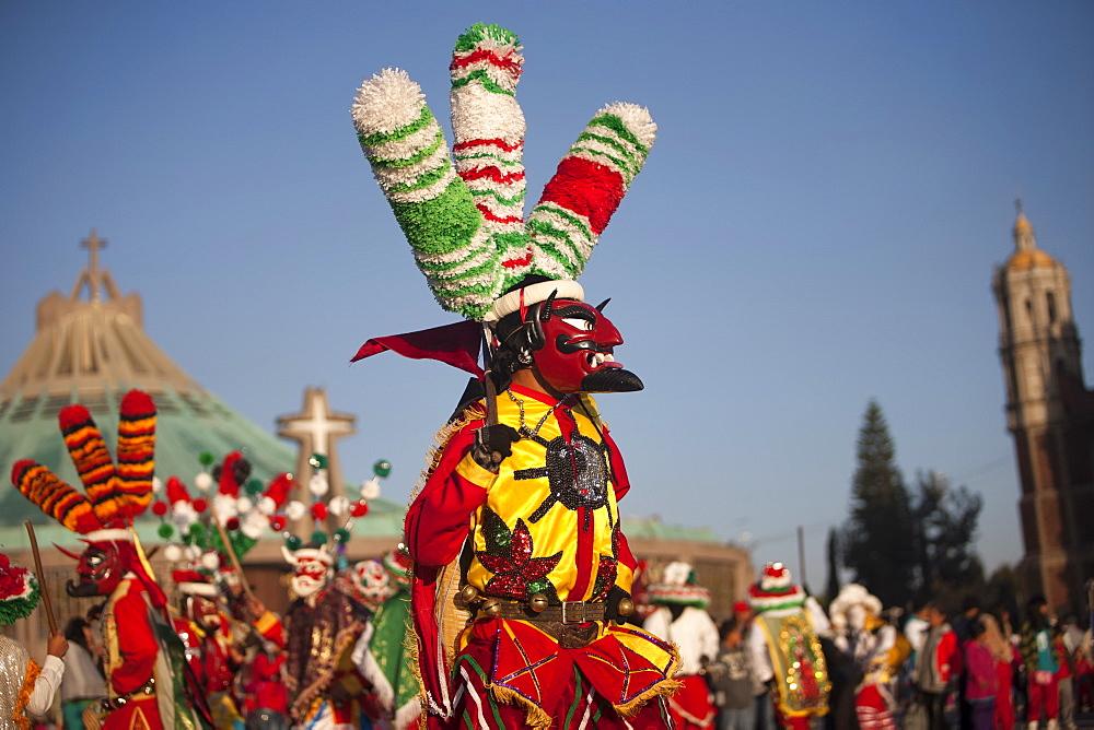 A dancer dressed as Saint James from Chocaman, Veracruz, Mexico. - 857-91292