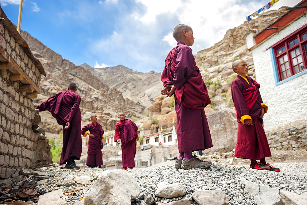 Young monks during Hemis Festival, Ladakh, India.