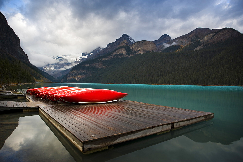 Canoes on the dock