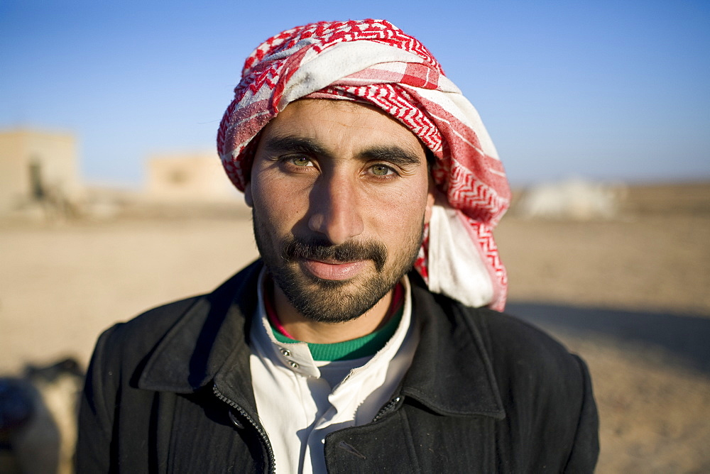 Portrait of a young Syrian Bedouin man in Palmyra, Syria.