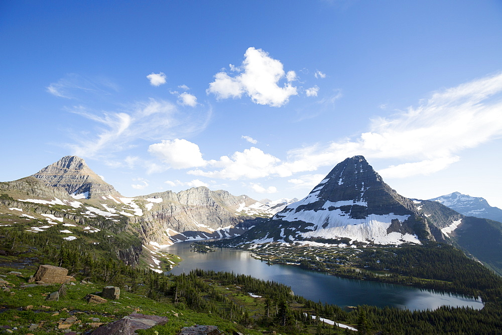 Hidden Lake on Logan Pass in Glacier National Park near West Glacier, Montana.