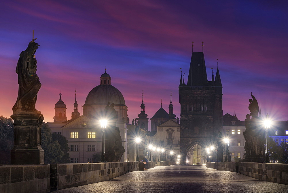 Charles Bridge, Vltava River, Prague, Czech Republic