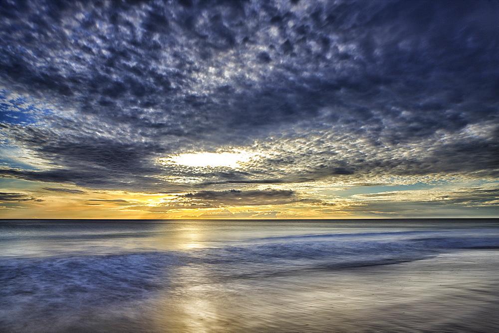 Sunrise on Nilaveli beach, Trincomalee, Sri Lanka, Asia
