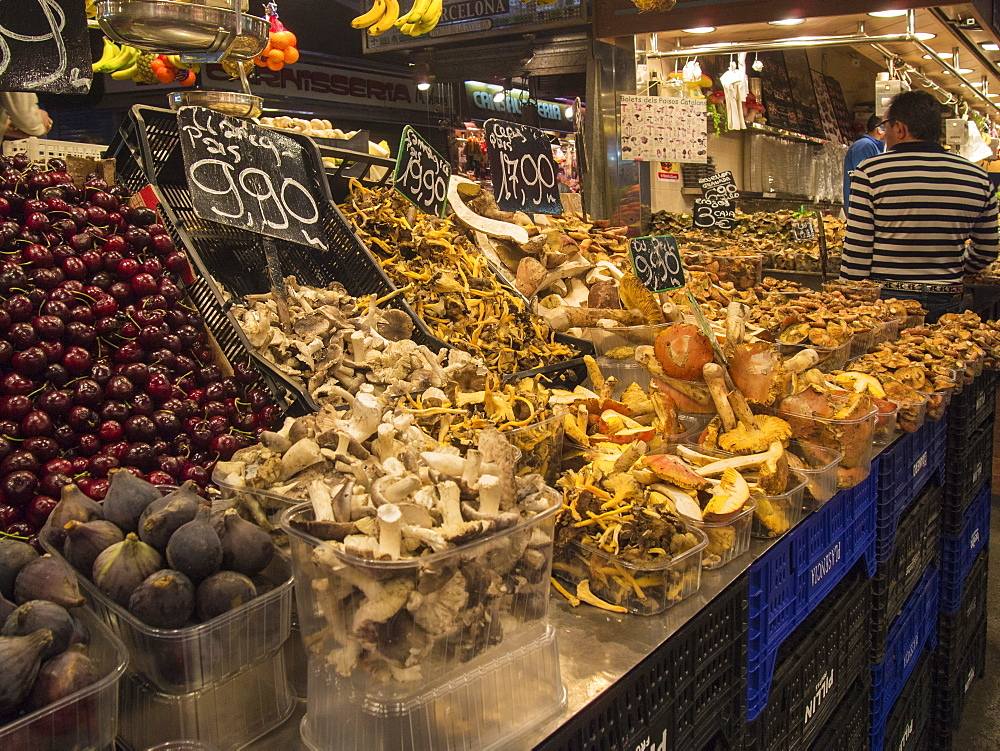 Food Stall In Market Of Barcelona, Spain