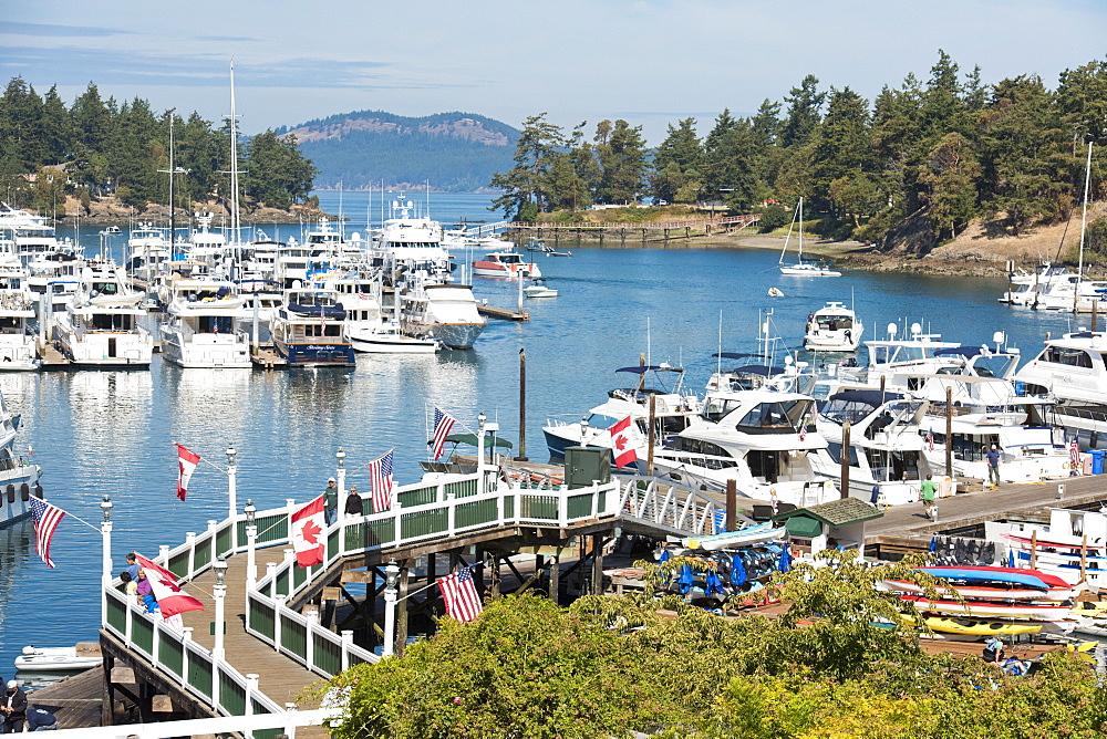 Dock At Roche Harbor On San Juan Island, Washington, Usa