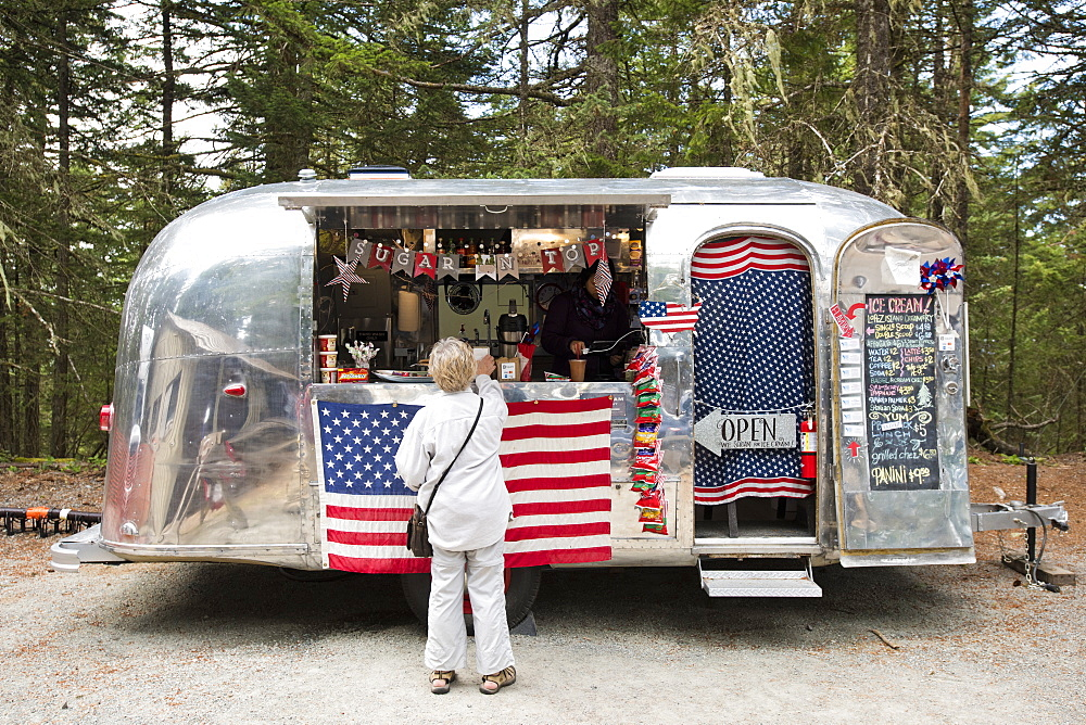 An Airstream Converted Into Mobile Coffee Shop On Orcas Island, Washington
