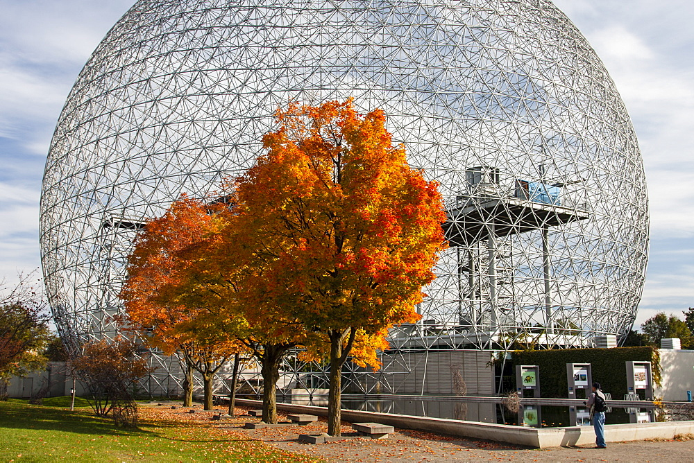 The Geodesic Dome At The Biosphere Museum In Montreal