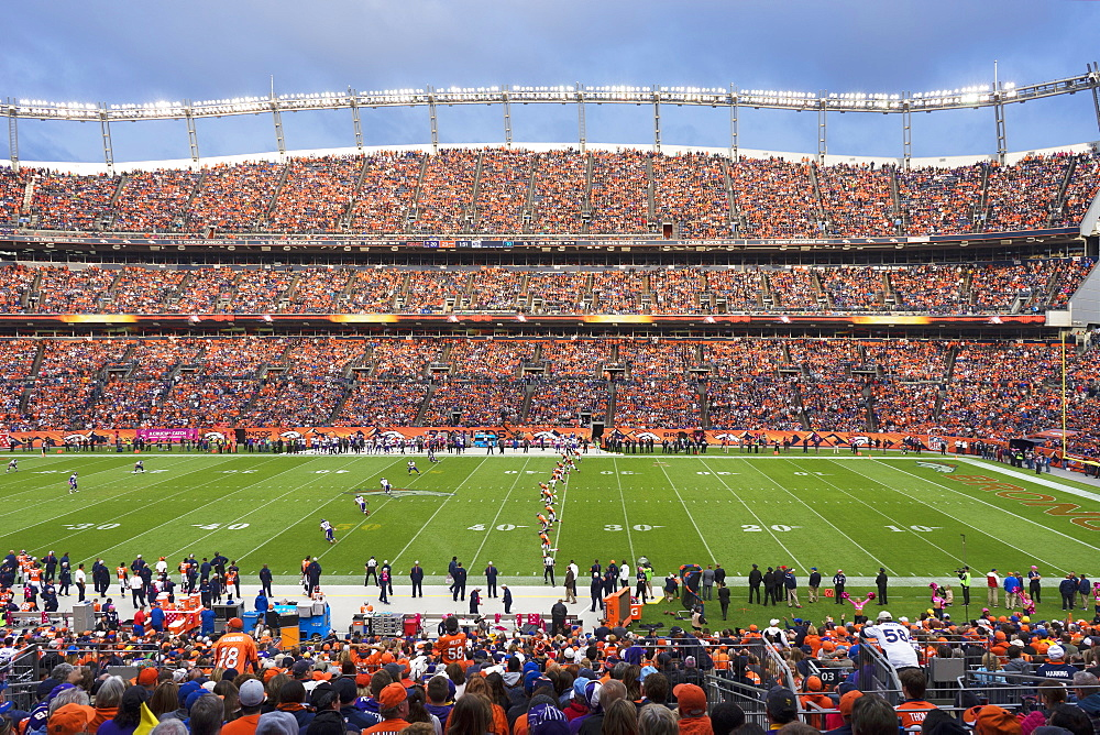 View Of Sports Authority Field At Mile High Stadium In Denver, Colorado