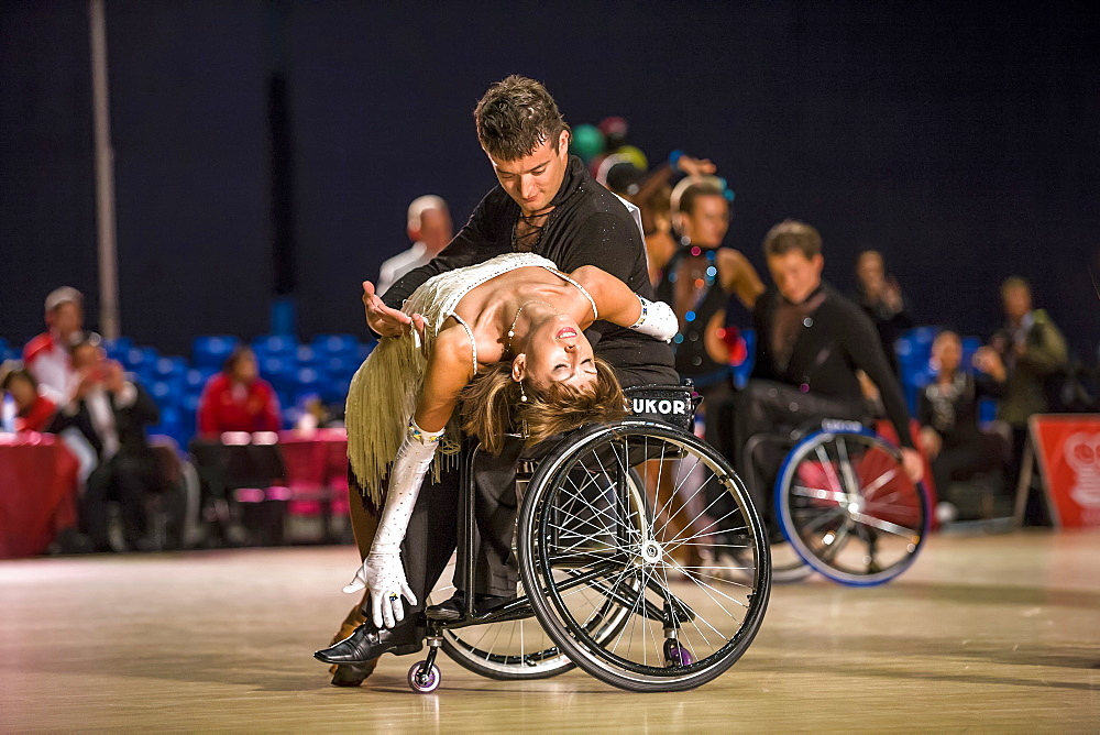 Wheelchair Dancing Couple Performing In Russia