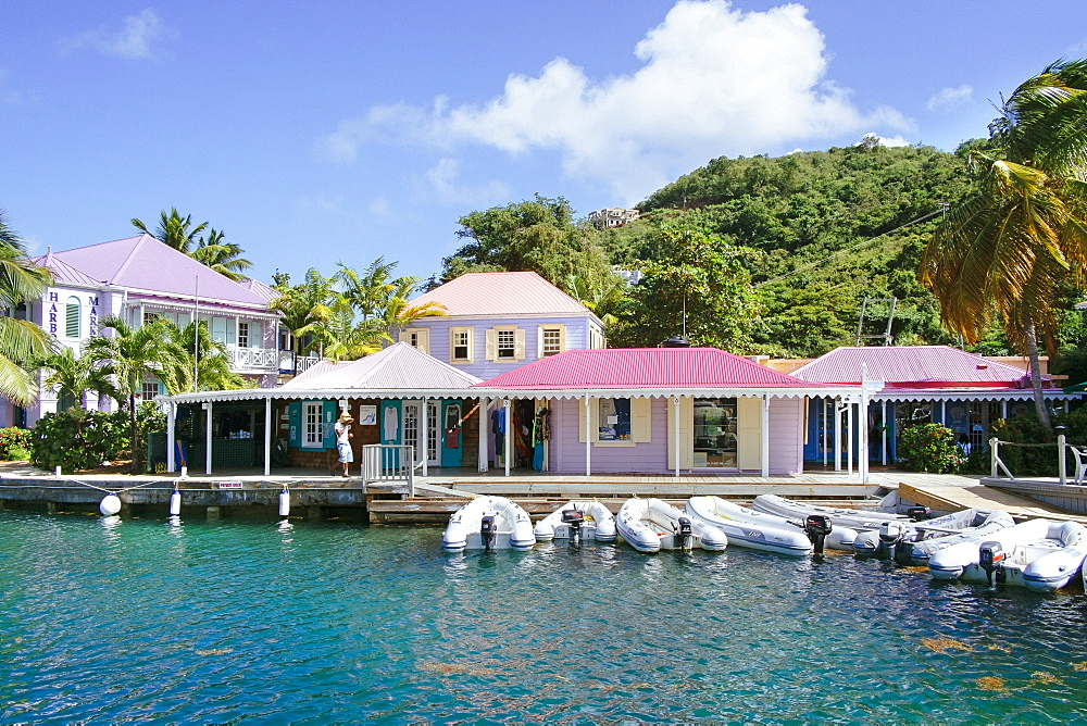 View Of Colorful Houses At The Harbor Of Soper's Hole, Tortola