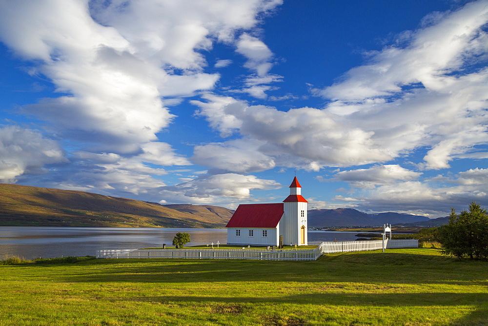 Glaesibaejarkirkja Church on Eyjafjordur Akureyri, Iceland