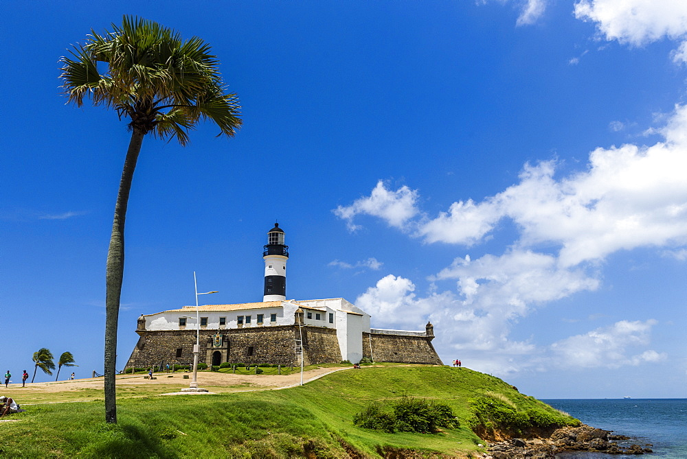 Farol da Barra Lighthouse in Salvador, Bahia, Brazil