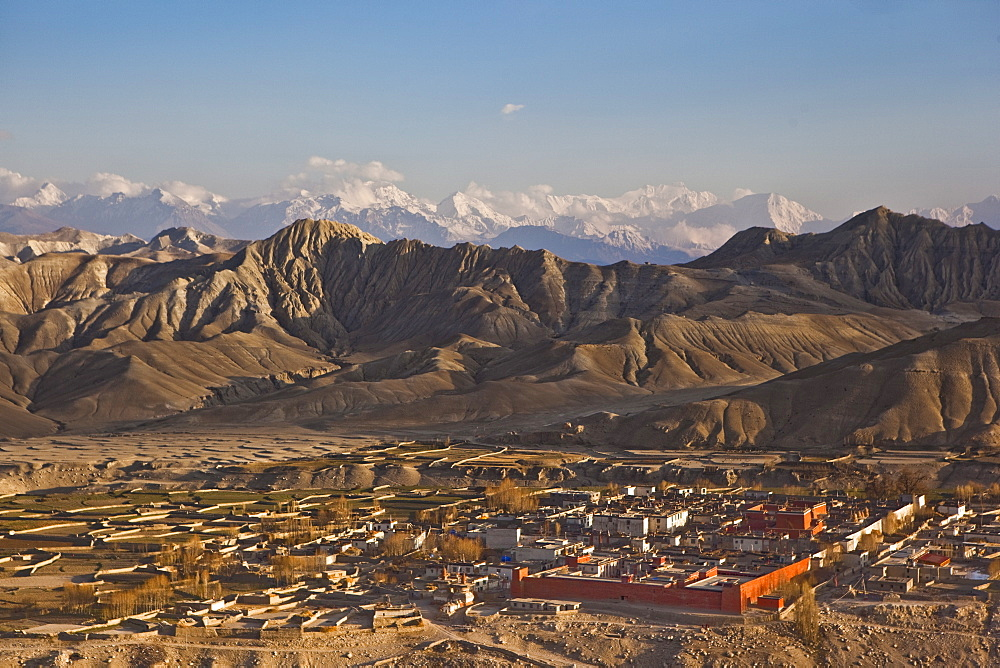 View Of Lo Manthang From Kechar Fort