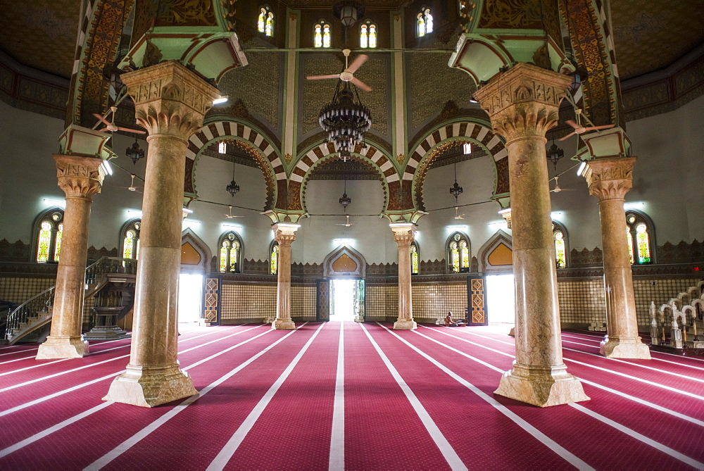 Interior Of The Medan Grand Mosque, Sumatra, Indonesia