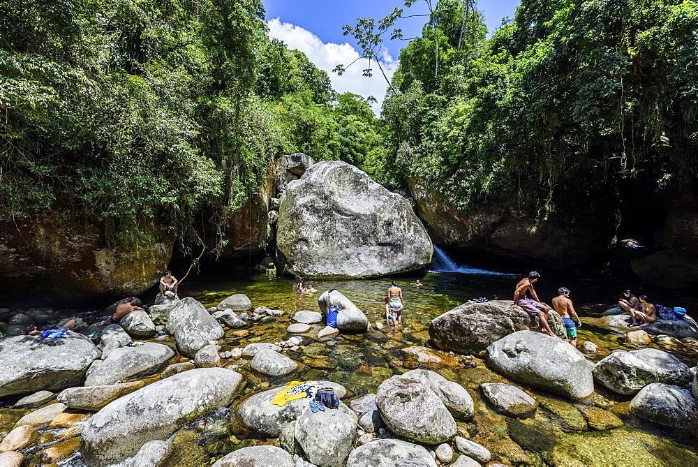 Poço Verde (Green Pool) in Serra dos Órgãos National Park, Rio de Janeiro, Brazil