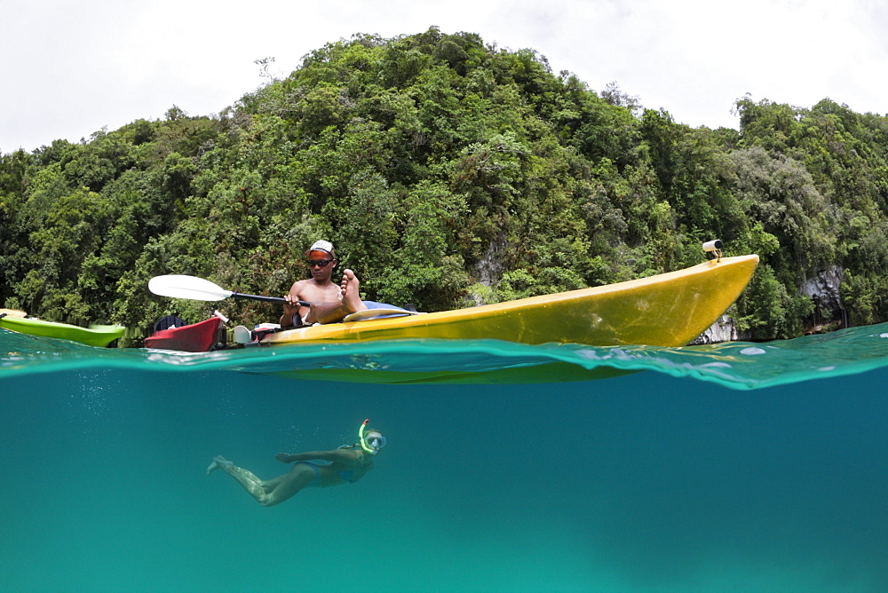 Snorkeling in Rock Islands, Risong Bay, Micronesia, Palau