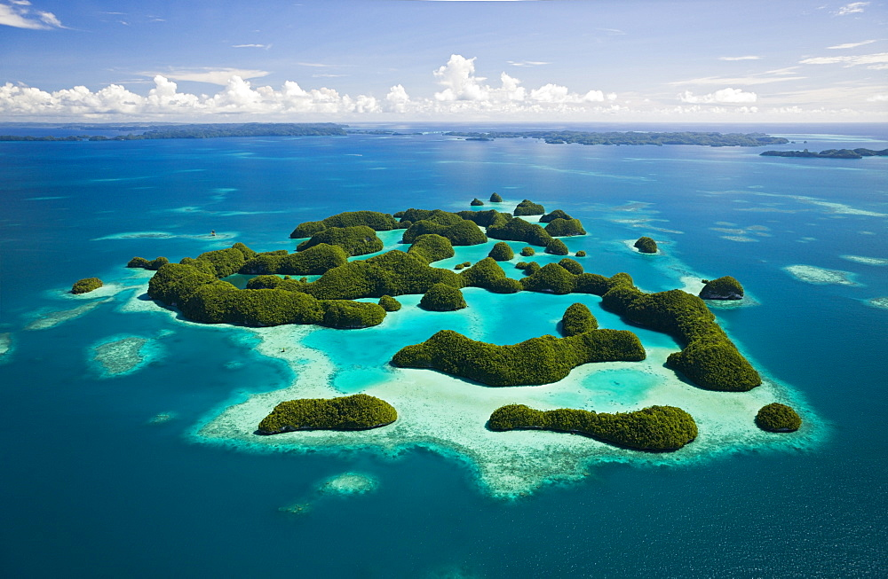 Aerieal View of Seventy Islands, Micronesia, Palau