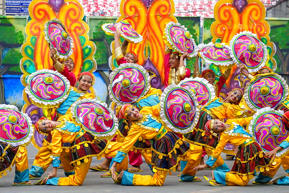 Dancers from Tribu Talakudong performing at Dinagyang Festival, Iloilo, Philippines