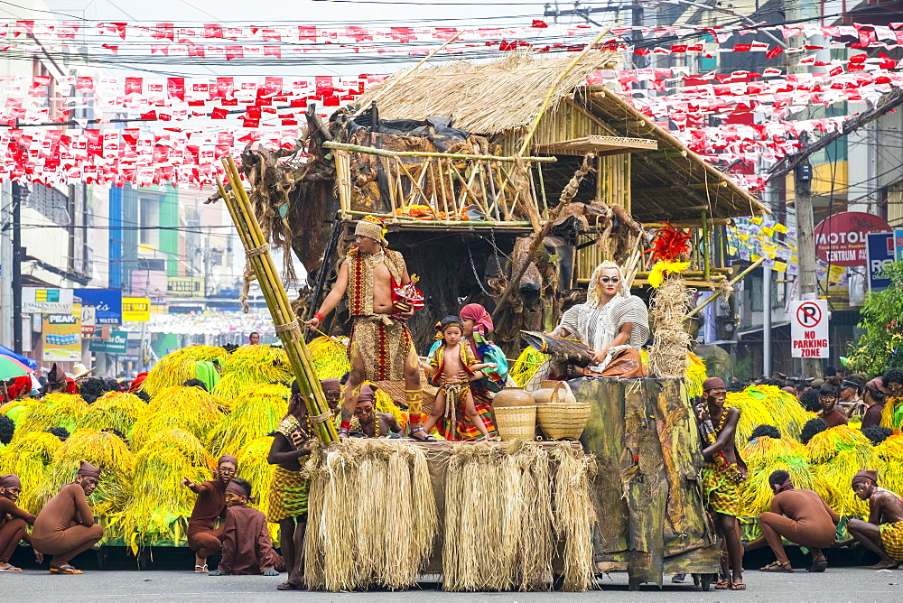 Tribu Panayanon performing Dinagyang Festival, Iloilo, Philippines