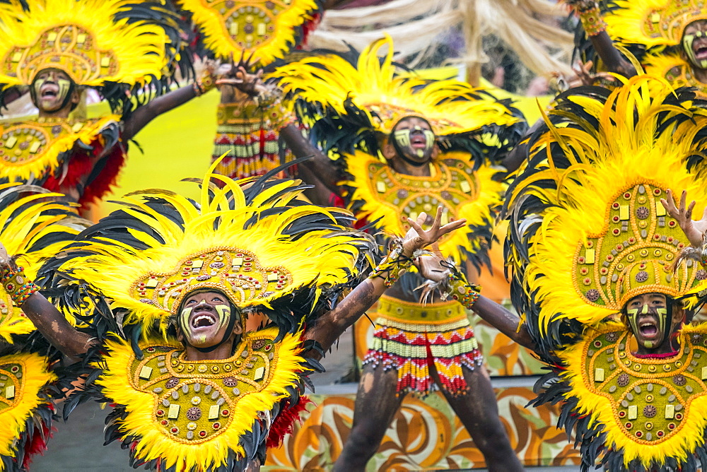 Ati warriors performing at Dinagyang Festival, Iloilo, Philippines - 857-94876