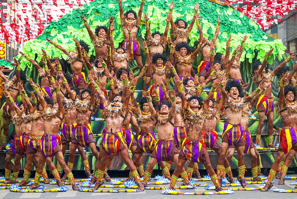 Tribu Paghidaet performing at Dinagyang Festival, Iloilo City, Philippines