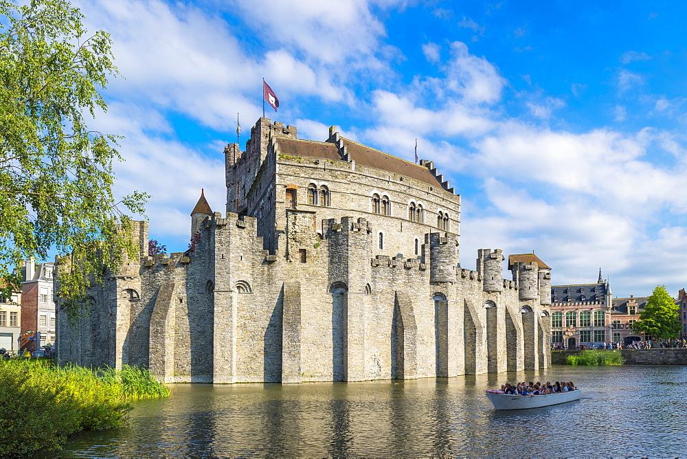 Gravensteen castle, Ghent, Flanders, Belgium