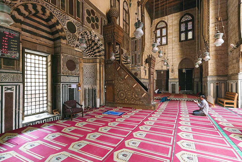 Sultan Al Ghuri medieval Mamluk Mosque in Islamic Cairo, Egypt