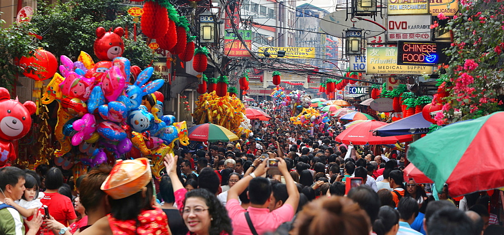 Chinese New Year celebration in Chinatown, Manila, Philippines