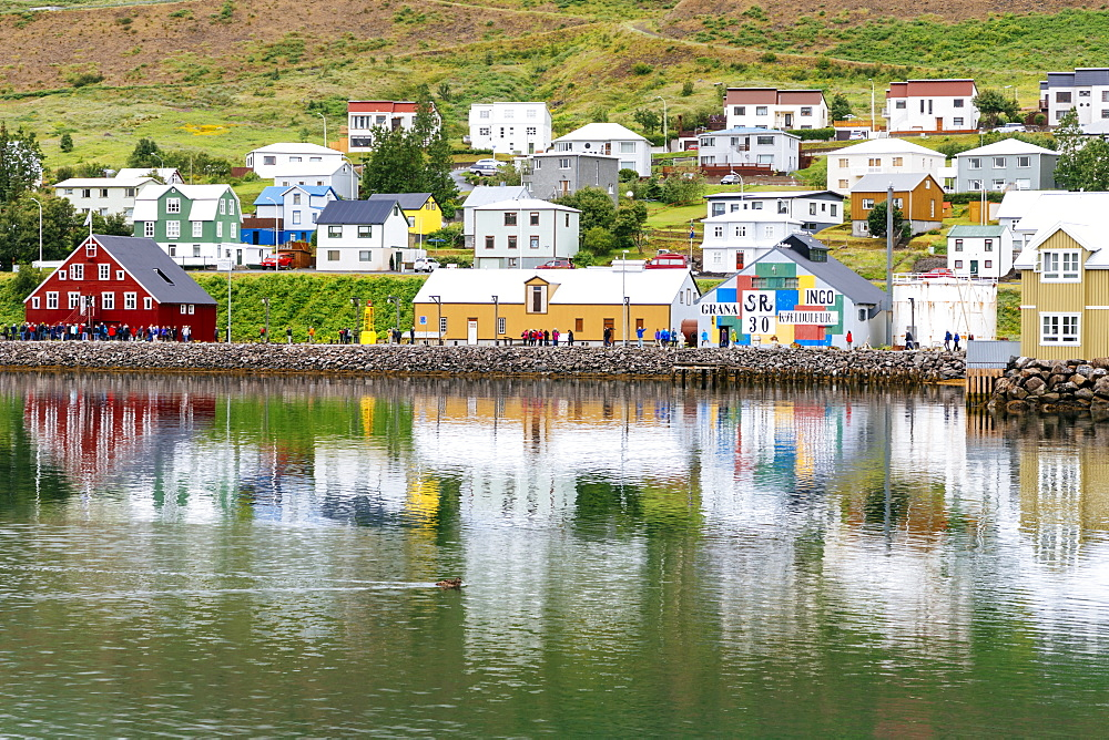 The buildings of the Herring museum at Seydisfjordur tell the story of this important industry for the town in past years, Iceland - 857-96050