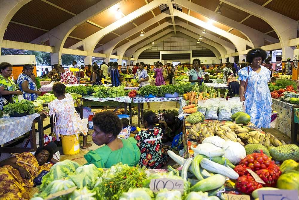 Port Vila Market, Efate Island. Vanuatu.