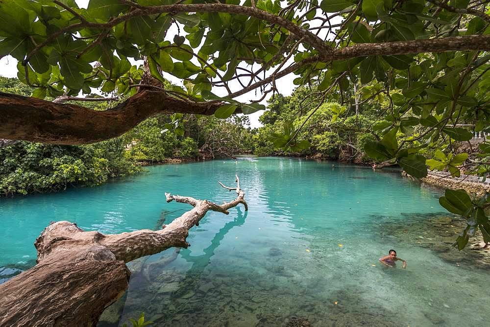 Inland sea arm on Efate Island, Vanuatu.