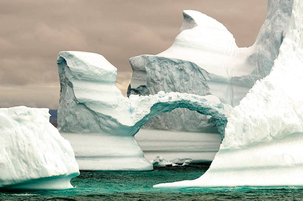 Iceberg presenting an arch, Greenland