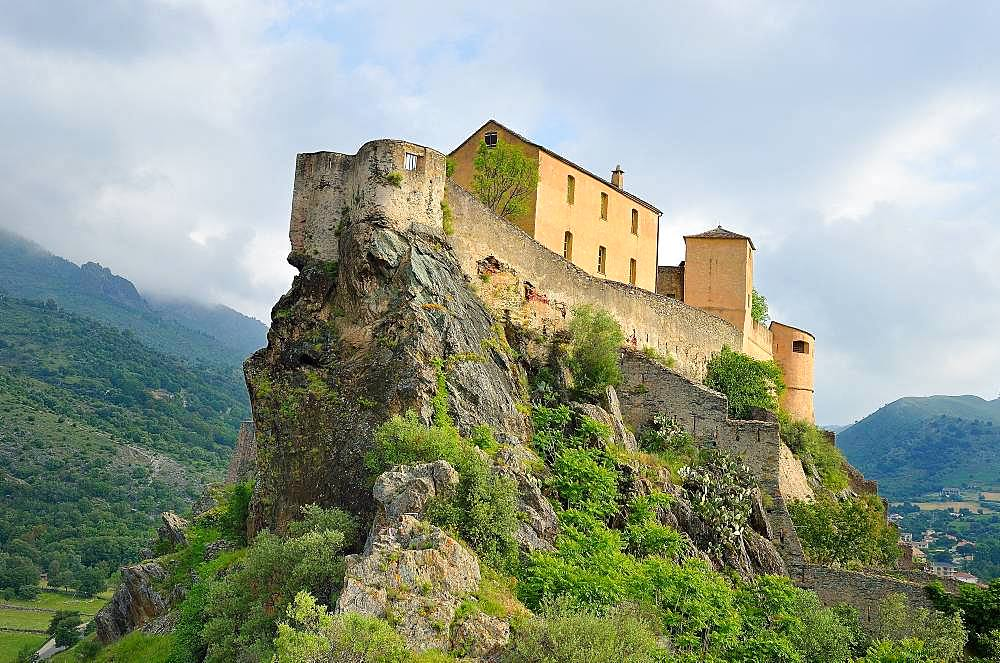 Citadel of Corte: the old castle., Corsica