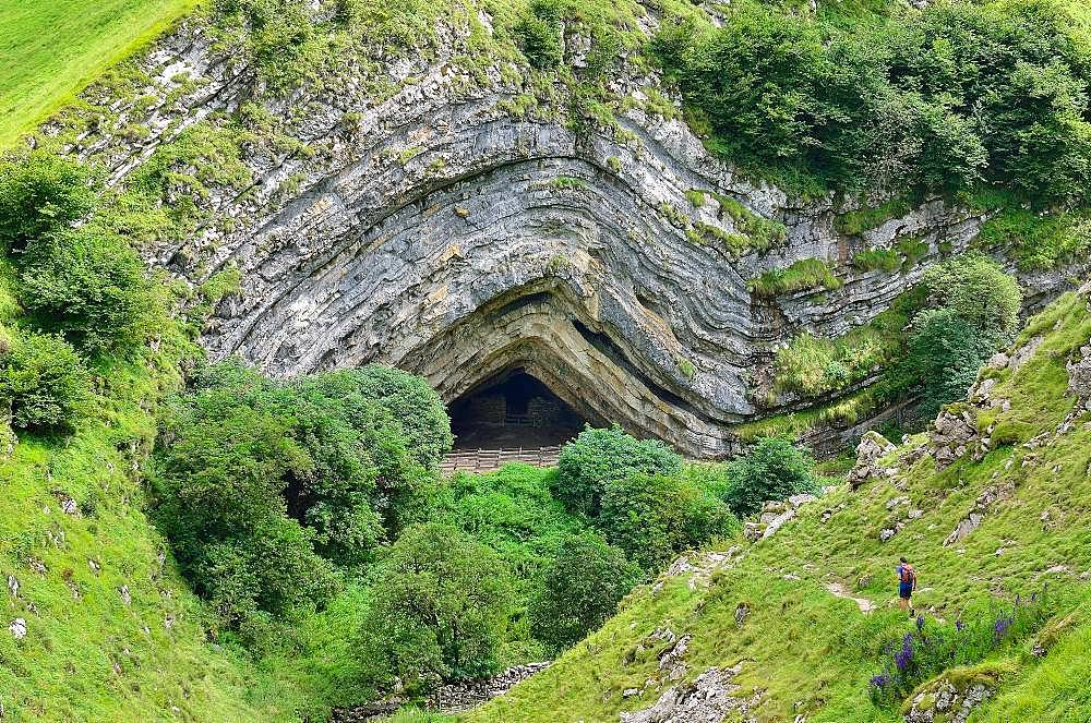 Cave of Harpea, anticlinal formed in limestone, Basque Country, Pyrenees, France