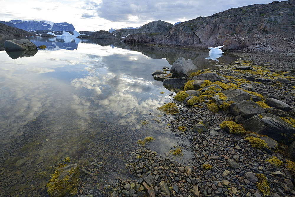Low tide at the bottom of Scoresby Sund on the Bear Archipelago, Greenland