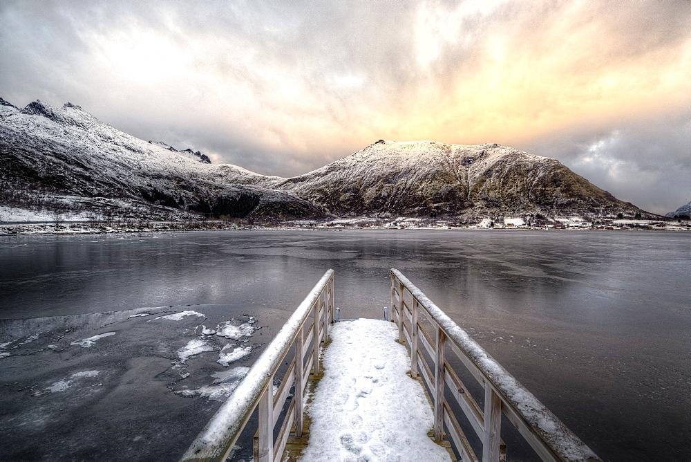 Pontoon, Shore of Lofoten Islands, Nordland, Norway - 860-288338