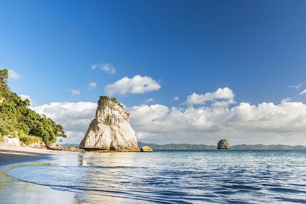 Sea Stack at Cathedral Cove, Te Whanganui-A-Hei, Coromandel Peninsula, North Island, New Zealand