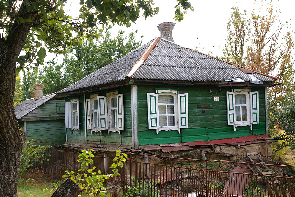 typical old wooden living house