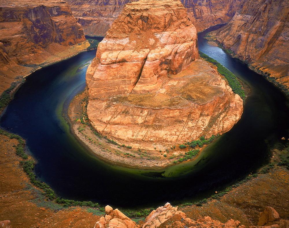 Colorado River from Horseshoe Overlook Glen Canyon National Recreation Area Arizona USA