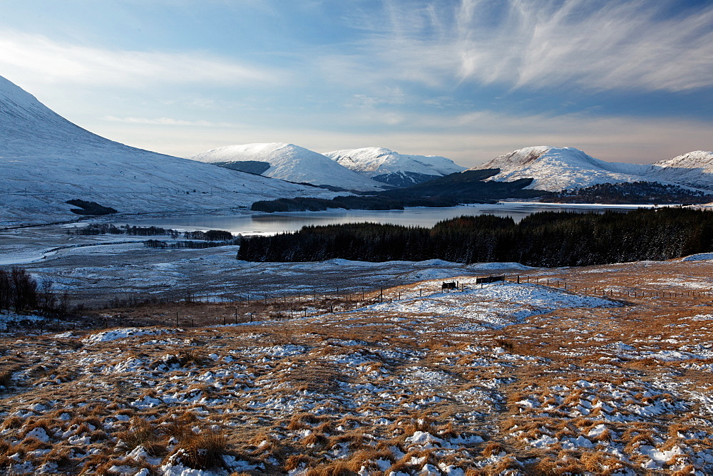 mountain landscape and lake West Highlands Scotland   - 869-5498