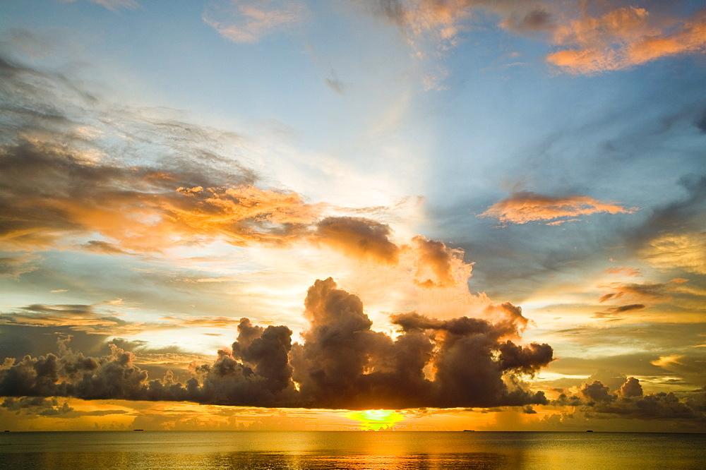 Sunset from Funafuti Atoll, Tuvalu, Pacific