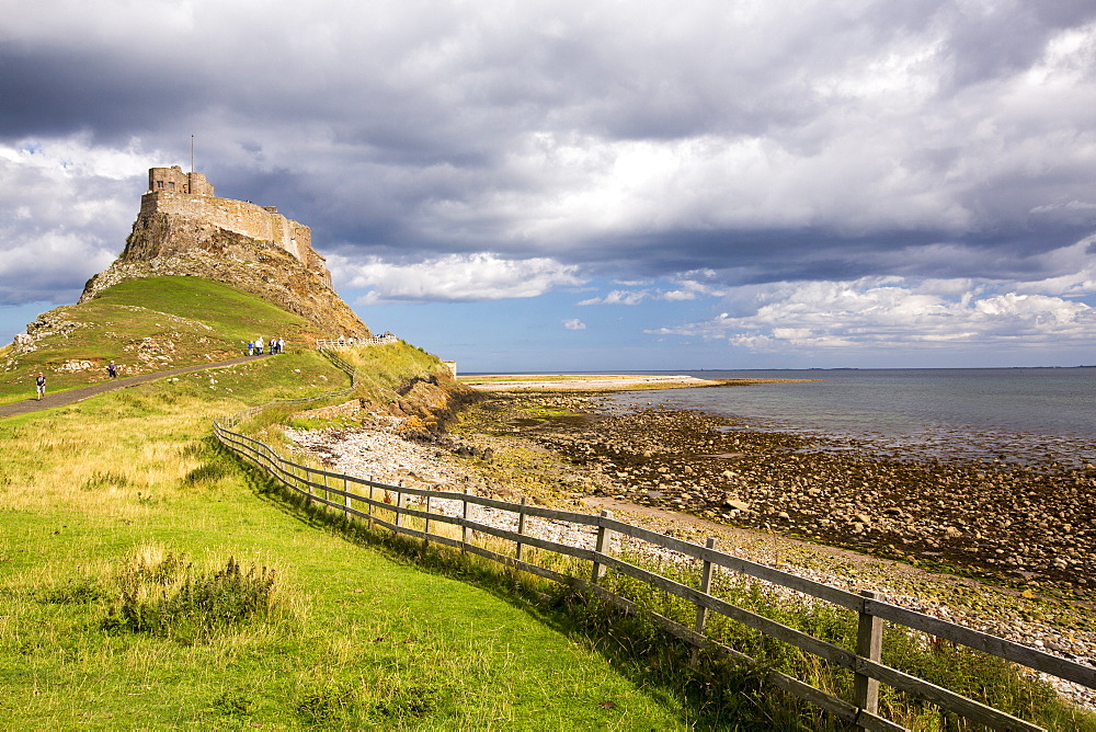 Lindisfarne Castle, Holy Island, Northumberland, UK.