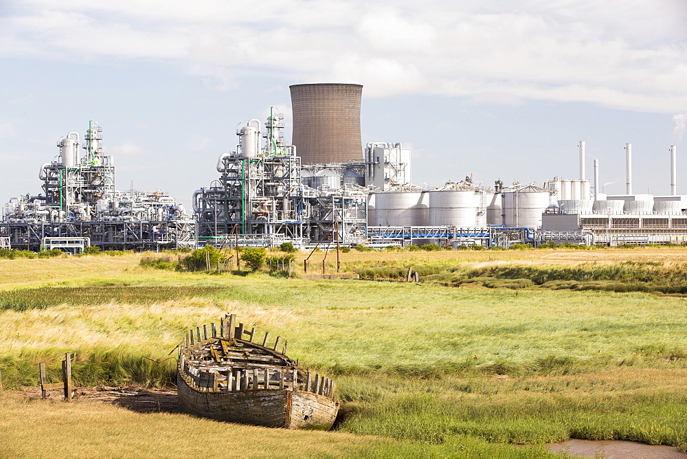 A BP chemical plant at salt End on Humberside which produces Acetic Acid and a gas fired power station It is vulnerable to coastal flooding, and although sea defences were constructed some years ago, climate change driven sea level rise and increased stromy weather, leaves it vulnerable to inundation.