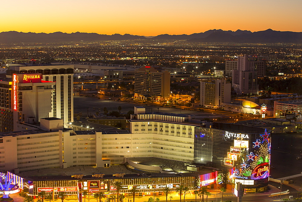 Sunrise over Las Vegas, Nevada, USA.
