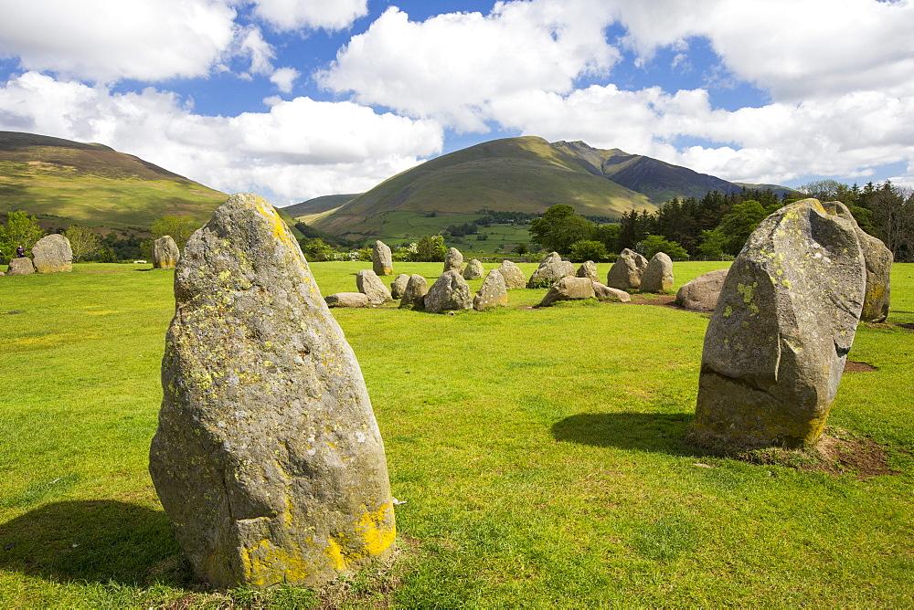 Castlerigg stone circle, near Keswick Lake District, UK.