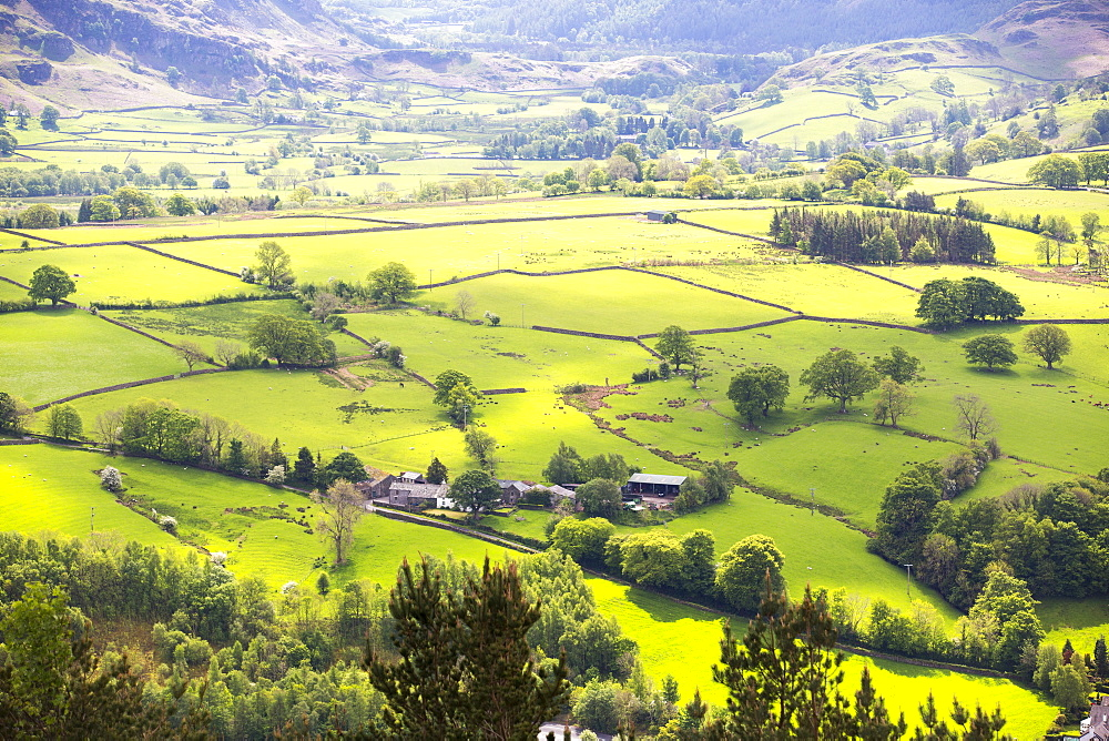 Lake District scenery near Keswick, Cumbria, UK.